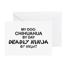 Chihuahua Deadly Ninja Greeting Cards (Pk of 10)