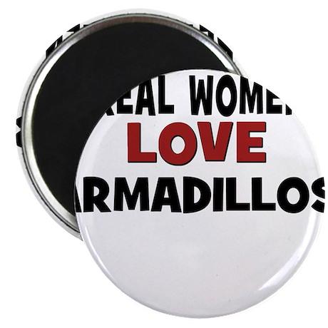 "Real Women Love Armadillos 2.25"" Magnet (10 pack)"