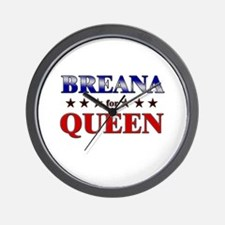 BREANA for queen Wall Clock