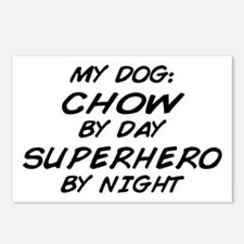Chow Supehero by Night Postcards (Package of 8)