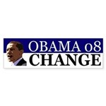 Obama 08: Change! (Bumper Sticker)