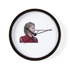 Hillary Clinton Pinocchio Wall Clock