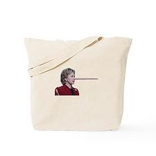 Hillary Clinton Pinocchio Tote Bag