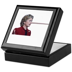 Hillary Clinton Pinocchio Keepsake Box