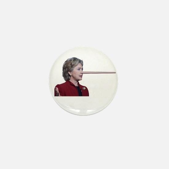 Hillary Clinton Pinocchio Mini Button