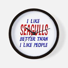 I Like Seagulls Wall Clock