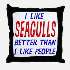 I Like Seagulls Throw Pillow