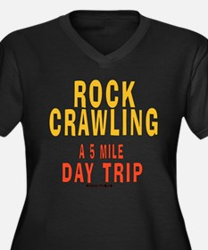 DAY TRIP Women's Plus Size V-Neck Dark T-Shirt