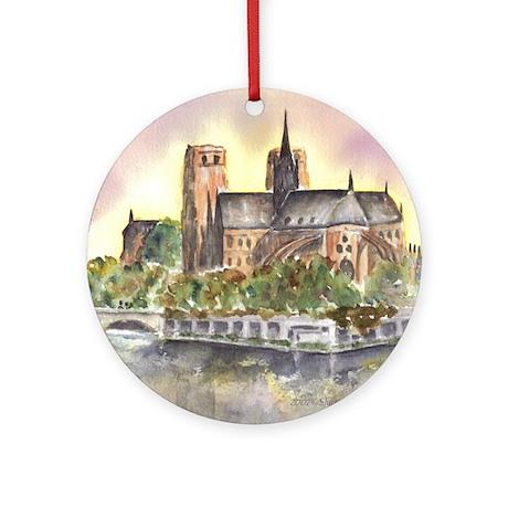 Notre Dame Paris Ornament (Round)