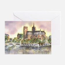 Notre Dame Paris Blank Greeting Card