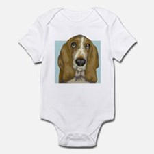 Basset Hound (Front only) Infant Bodysuit