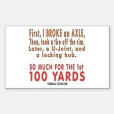 100 YARDS Rectangle Decal