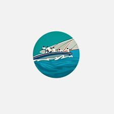 Carribean Summer Sail Mini Button