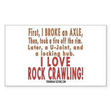 Love Rock Crawling Rectangle Decal