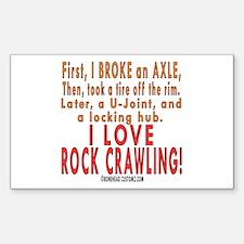 Love Rock Crawling Rectangle Decal