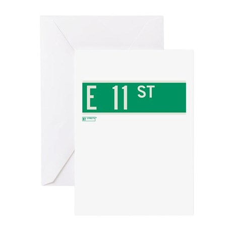 11th Street in NY Greeting Cards (Pk of 10)