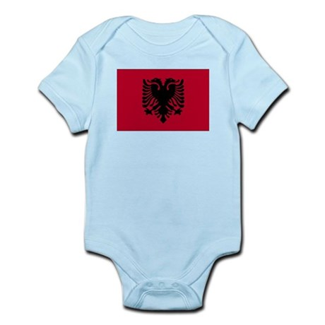 Albania Flag Infant Creeper