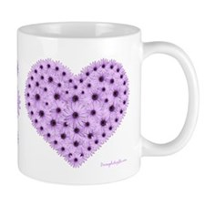 Lavender Flower Heart Mug