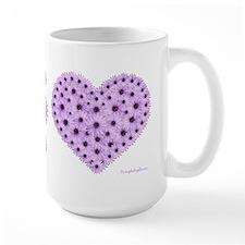 Lavender Flower Heart Mug