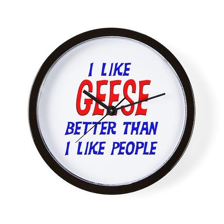 I Like Geese Wall Clock