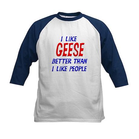 I Like Geese Kids Baseball Jersey