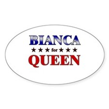 BIANCA for queen Oval Decal