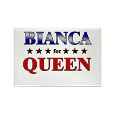 BIANCA for queen Rectangle Magnet