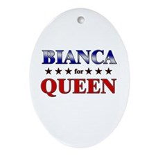 BIANCA for queen Oval Ornament