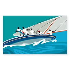 Carribean Summer Sail Rectangle Decal