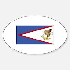 American Somoa Flag Oval Decal