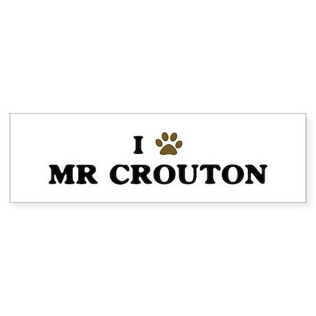 Mr Crouton paw hearts Bumper Sticker