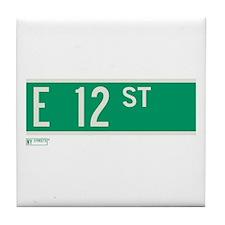 12th Street in NY Tile Coaster