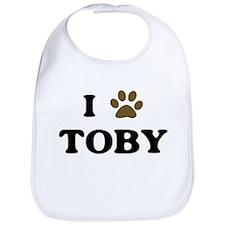 Toby paw hearts Bib