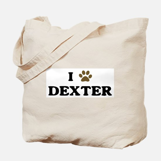 Dexter paw hearts Tote Bag