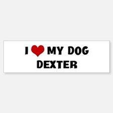 I Love My Dog Dexter Bumper Bumper Bumper Sticker
