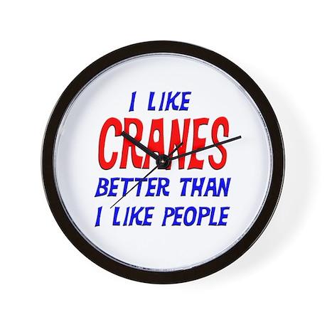 I Like Cranes Wall Clock