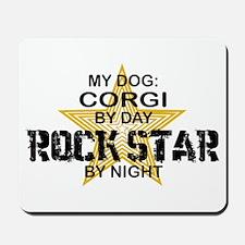 Corgi Rock Star by Night Mousepad
