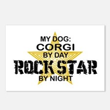 Corgi Rock Star by Night Postcards (Package of 8)