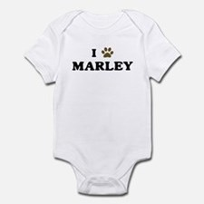 Marley paw hearts Infant Bodysuit