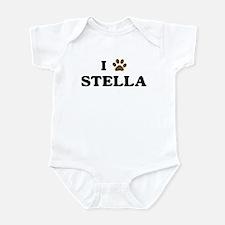 Stella paw hearts Infant Bodysuit