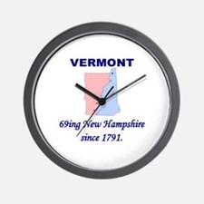 Vermont, 69ing New Hampshire Wall Clock