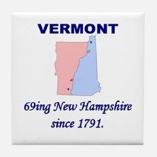 Vermont, 69ing New Hampshire Tile Coaster