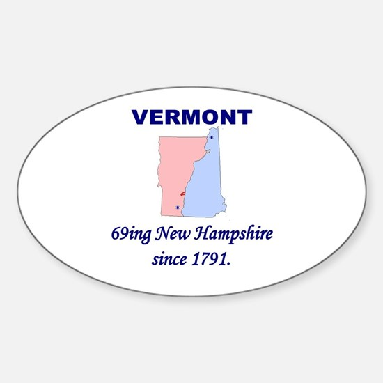 Vermont, 69ing New Hampshire Oval Decal