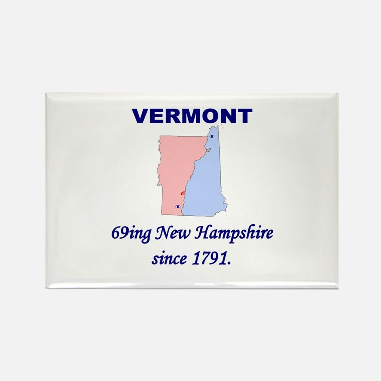 Vermont, 69ing New Hampshire Rectangle Magnet