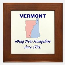 Vermont, 69ing New Hampshire Framed Tile
