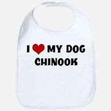 I Love My Dog Chinook Bib