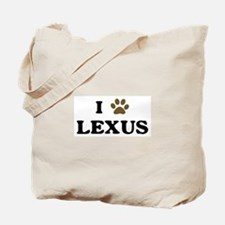 Lexus paw hearts Tote Bag