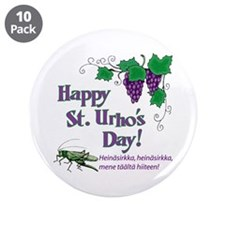"St. Urho's Day 3.5"" Button (10 pack)"
