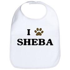 Sheba paw hearts Bib