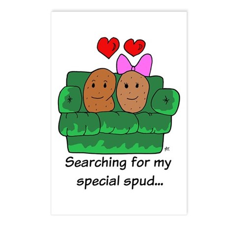 Couch Potato Love Postcards (Package of 8)